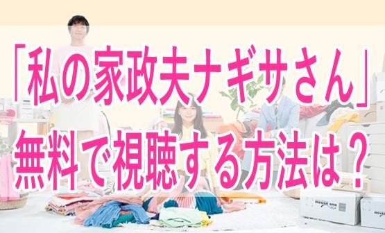 私の家政夫ナギサさん/動画フル/無料/視聴/ドラマ/多部未華子/大森南朋